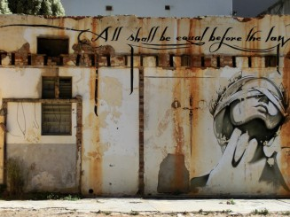 All shall be equal before the law - South Africa Grafitti