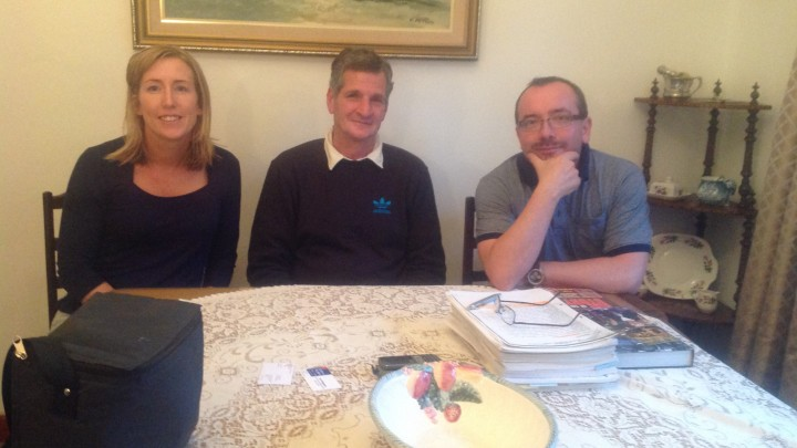 Anna Bryson, Jan Wagener and Kieran McEvoy, Hermanus, South Africa
