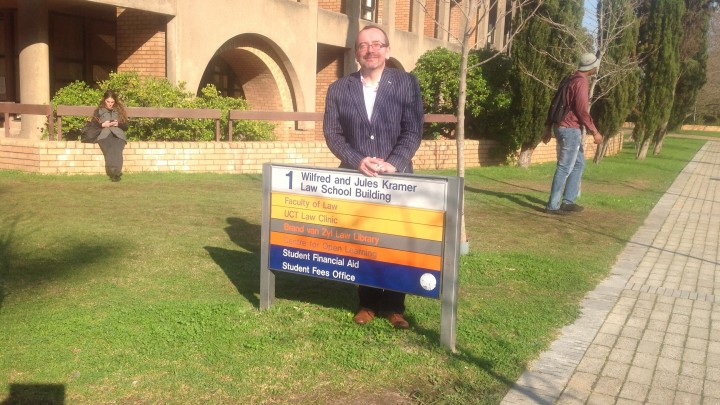 Kieran McEvoy at the University of Cape Town