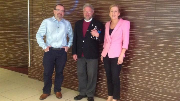 Kieran McEvoy, Bishop Paul Verryn and Anna Bryson
