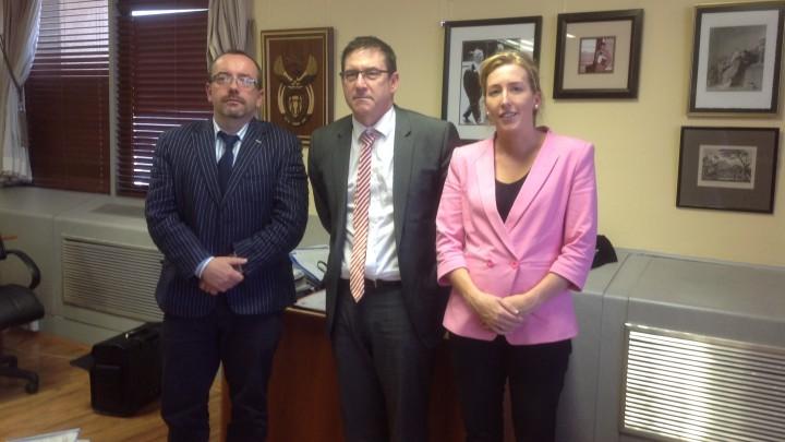 Kieran McEvoy, John Jeffery (Deputy Minister for Justice) and Anna Bryson