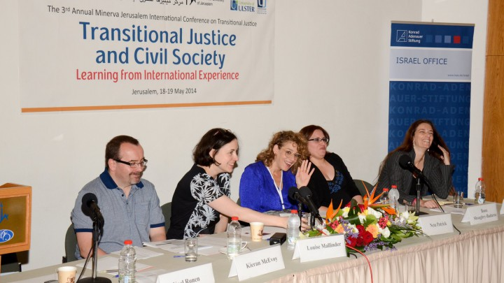 Kieran and Lousie on the panel at the Third Annual Minerva Jerusalem International Conference on Transitional Justice